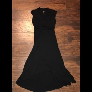 Apt. 9 High Low Black Maxi V-neck Dress. Size M.